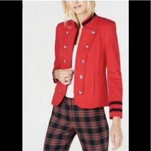 Tommy Hilfiger Military band Jacket Blazer Red S